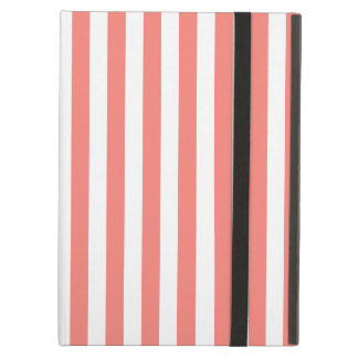 Thin Stripes - White and Coral Pink iPad Air Case