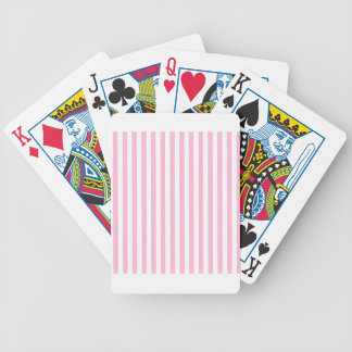 Thin Stripes - White and Cotton Candy Bicycle Playing Cards