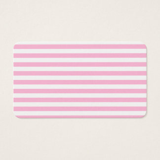 Thin Stripes - White and Cotton Candy Business Card