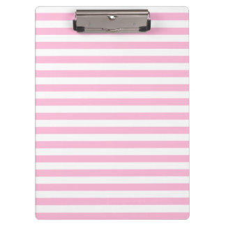 Thin Stripes - White and Cotton Candy Clipboard