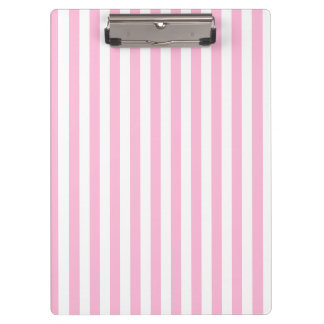 Thin Stripes - White and Cotton Candy Clipboards