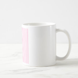 Thin Stripes - White and Cotton Candy Coffee Mug