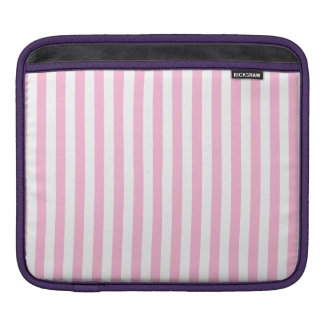 Thin Stripes - White and Cotton Candy iPad Sleeve
