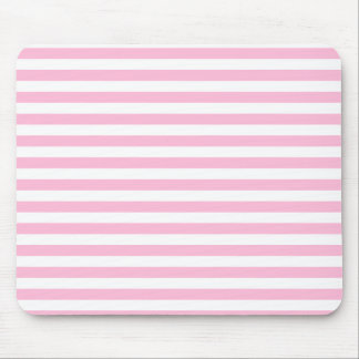 Thin Stripes - White and Cotton Candy Mouse Pad