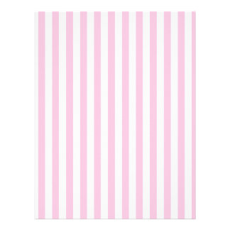 Thin Stripes - White and Cotton Candy Personalized Letterhead