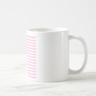 Thin Stripes - White and Cotton Candy Pink Coffee Mug