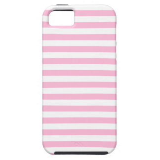 Thin Stripes - White and Cotton Candy Pink iPhone 5 Cases