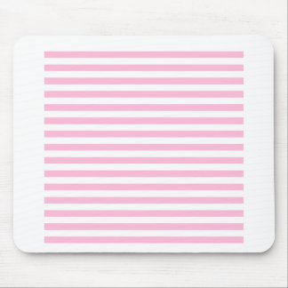 Thin Stripes - White and Cotton Candy Pink Mouse Pad