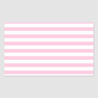 Thin Stripes - White and Cotton Candy Pink Sticker
