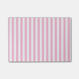Thin Stripes - White and Cotton Candy Post-it® Notes