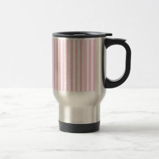 Thin Stripes - White and Cotton Candy Travel Mug