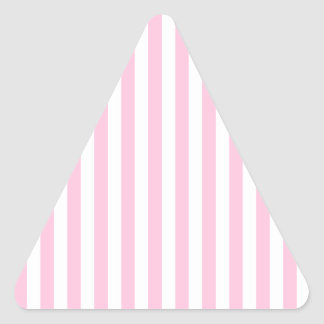 Thin Stripes - White and Cotton Candy Triangle Sticker