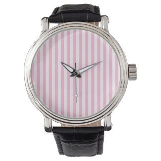 Thin Stripes - White and Cotton Candy Watch