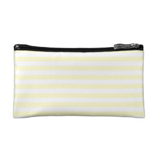 Thin Stripes - White and Cream Cosmetic Bags