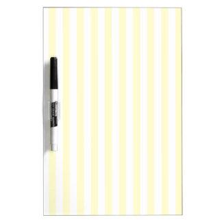 Thin Stripes - White and Cream Dry-Erase Boards
