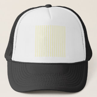 Thin Stripes - White and Cream Trucker Hat