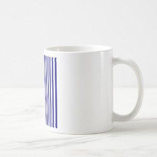 Thin Stripes - White and Dark Blue Coffee Mug