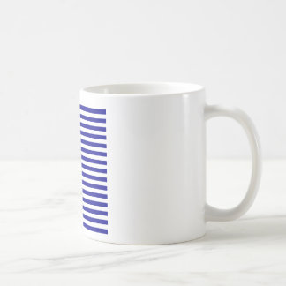 Thin Stripes - White and Dark Blue Coffee Mug