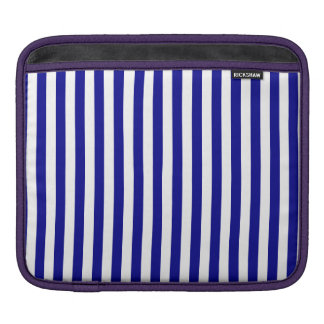 Thin Stripes - White and Dark Blue iPad Sleeve