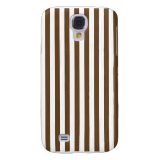 Thin Stripes - White and Dark Brown