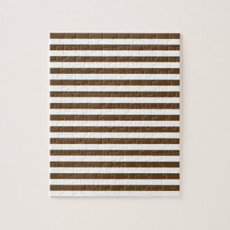Thin Stripes - White and Dark Brown Puzzles