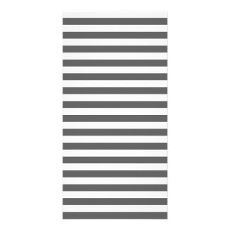 Thin Stripes - White and Dark Gray Photo Greeting Card