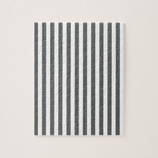 Thin Stripes - White and Dark Gray Puzzle