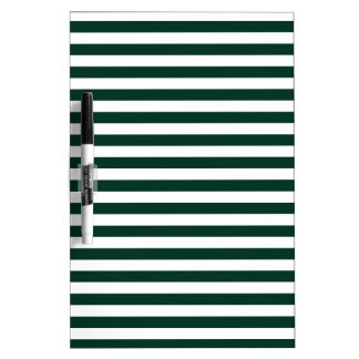 Thin Stripes - White and Dark Green Dry-Erase Whiteboards