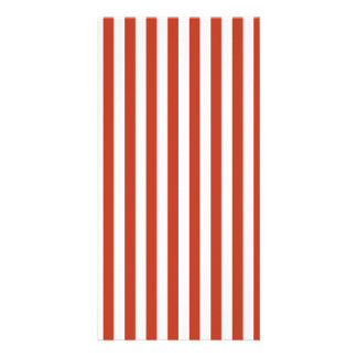 Thin Stripes - White and Dark Pastel Red Photo Greeting Card