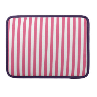 Thin Stripes - White and Dark Pink Sleeves For MacBooks