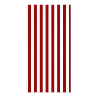 Thin Stripes - White and Dark Red Photo Greeting Card