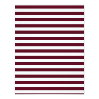 Thin Stripes - White and Dark Scarlet Card
