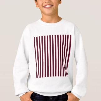 Thin Stripes - White and Dark Scarlet Sweatshirt