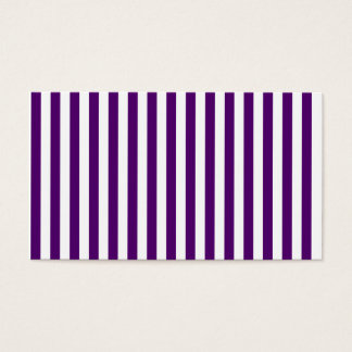 Thin Stripes - White and Dark Violet Business Card
