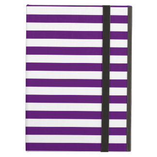 Thin Stripes - White and Dark Violet iPad Air Cover