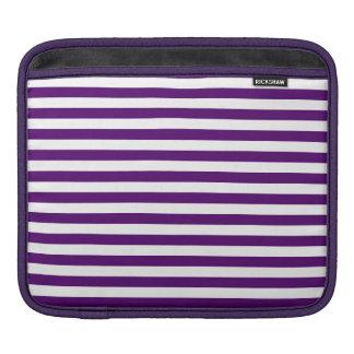 Thin Stripes - White and Dark Violet iPad Sleeve