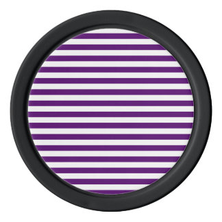 Thin Stripes - White and Dark Violet Poker Chips