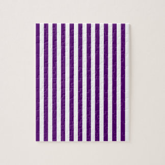Thin Stripes - White and Dark Violet Puzzles