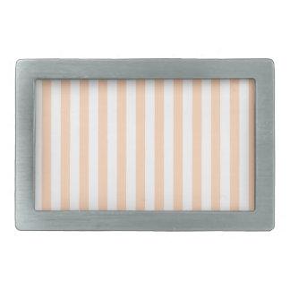 Thin Stripes - White and Deep Peach Belt Buckles