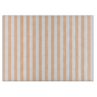 Thin Stripes - White and Deep Peach Boards