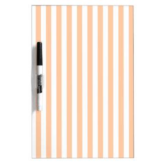 Thin Stripes - White and Deep Peach Dry Erase Board