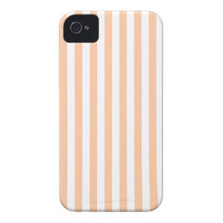 Thin Stripes - White and Deep Peach iPhone 4 Case-Mate Case