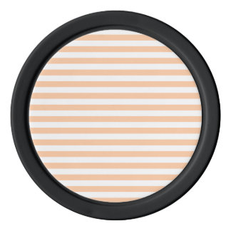 Thin Stripes - White and Deep Peach Poker Chips