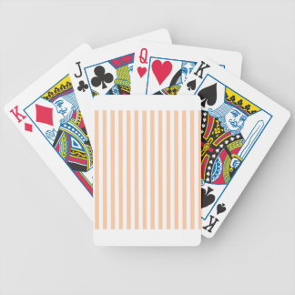 Thin Stripes - White and Deep Peach Poker Deck