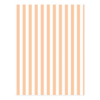 Thin Stripes - White and Deep Peach Postcard
