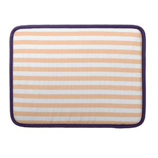 Thin Stripes - White and Deep Peach Sleeve For MacBook Pro