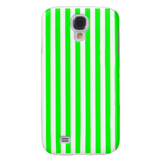 Thin Stripes - White and Electric Green