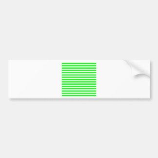 Thin Stripes - White and Electric Green Bumper Sticker