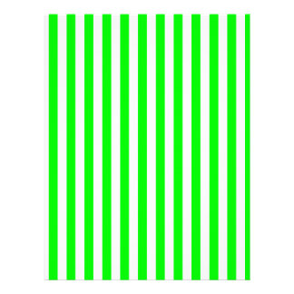 Thin Stripes - White and Electric Green Customized Letterhead