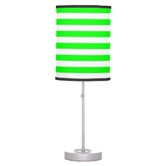 Thin Stripes - White and Electric Green Desk Lamps